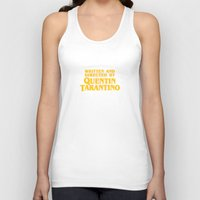 tarantino Tank Tops featuring Written and Directed by Quentin Tarantino (yellow variant) by Lucas Preti