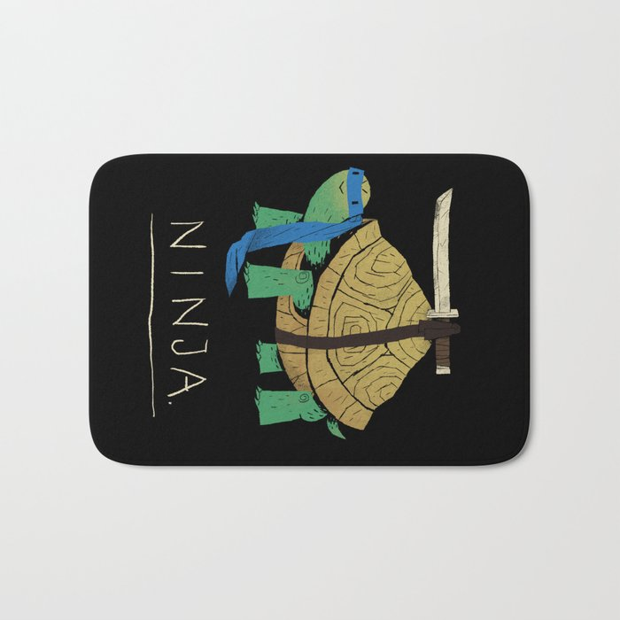 ninja - blue Bath Mat