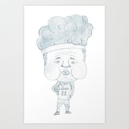 Basketball player Girdi stronger (JPEG) Art Print