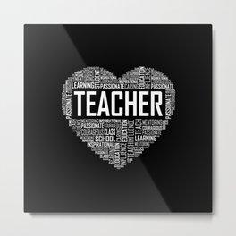 Love Teacher Heart Metal Print