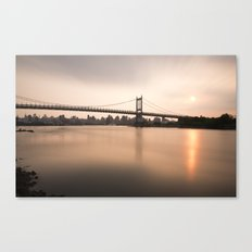 Triborough Bridge (NYC) at Sunset Canvas Print