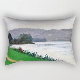 Felix Edouard Vallotton - Edge Of The Seine At Tournedos - Digital Remastered Edition Rectangular Pillow