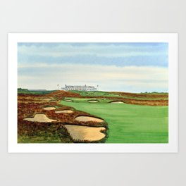 Shinnecock Hills Golf Course With Clubhouse Art Print