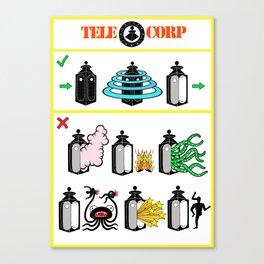 TeleCorp Teleport Company Canvas Print