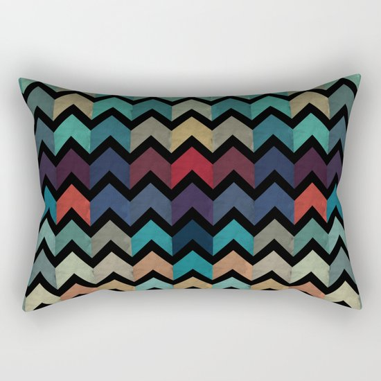 Colorful Chevron Pattern Rectangular Pillow
