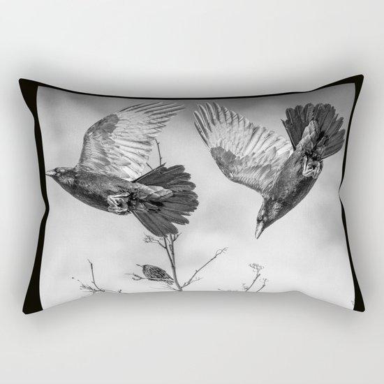 Krummar (raven) Rectangular Pillow