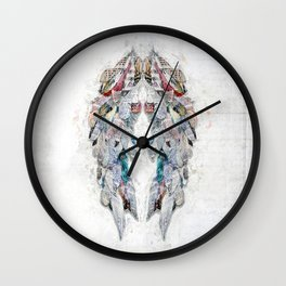 Paper Newsprint Wings Wall Clock