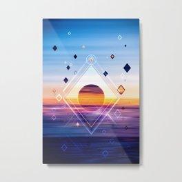 Abstract Geometric Collage II Metal Print