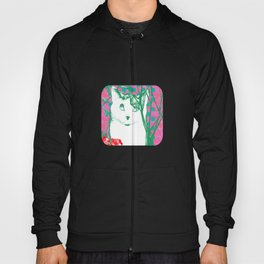flower and cat Hoody