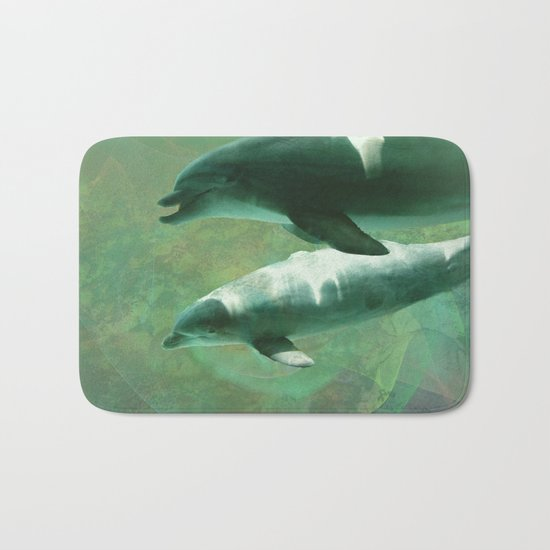 Two Dolphins Bath Mat