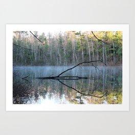 Reflections at Bluegill Pond Art Print