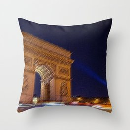 Arc De Triomphe, Paris, A Landscape by Jeanpaul Ferro Throw Pillow