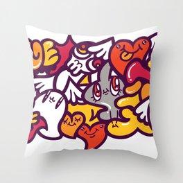 愛 - LOVE Throw Pillow