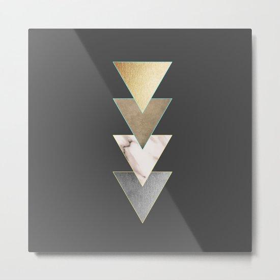 Triangled Metal Print
