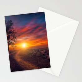 Lonley Tree Besides Desert Road Ultra HD Stationery Cards
