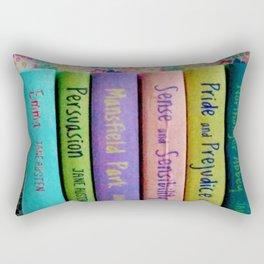 Jane Austen Library Rectangular Pillow