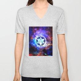 Sacred Geometry Merkaba Abstract Unisex V-Neck