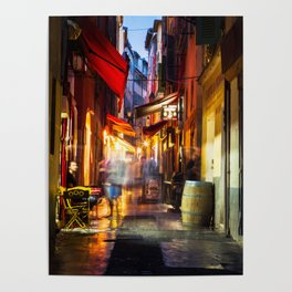 A walk through Nizza after the rain Poster