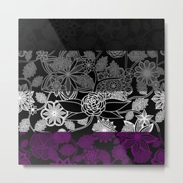 Flight Over Flowers of Fantasy - Asexual Pride Flag Metal Print
