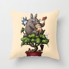 Forest Guardian Bonsai  Throw Pillow