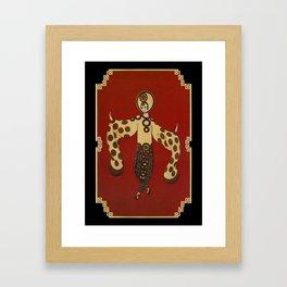 """Art Deco Design """" Willow Tree"""" Framed Art Print"""