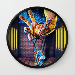 Puppet or Puppeteer Wall Clock