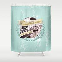 sport Shower Curtains featuring ArtAngelo Sport - Football Vintage by ArtAngelo