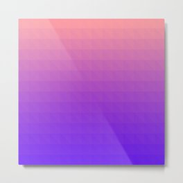 Pink and Purple Ombre - Flipped Metal Print