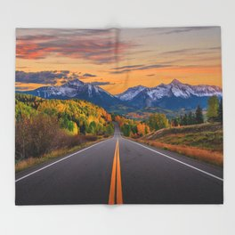 The Road To Telluride Throw Blanket
