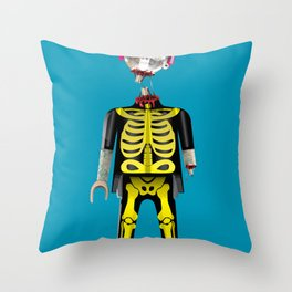 Playmo_Zombie_by LelosLovesYou Throw Pillow