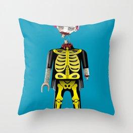 Playmo_Zombie_by LelosLovesYou Throw Pillow