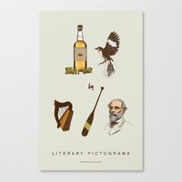 to kill a mockingbird Canvas Prints featuring Tequila Mockingbird by sam mitchell