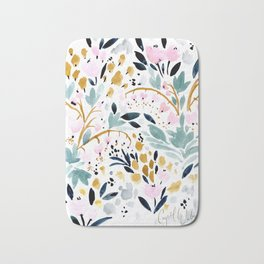 Two Hearts Beat as One Floral - Pastel Bath Mat