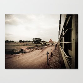 The Train Back Home. Canvas Print