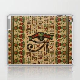 Egyptian Eye of Horus Ornament on papyrus Laptop & iPad Skin