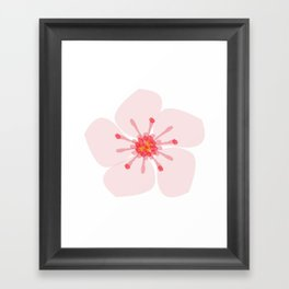 Sakura flower Framed Art Print