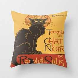 Tournee du Chat Noir De Rodolphe Salis Vector Throw Pillow