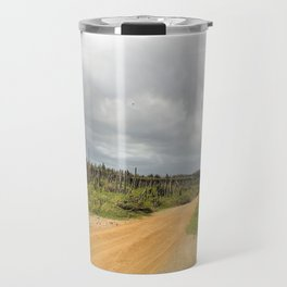 Grey Clouds over Bonaire Island in the Caribbean Travel Mug