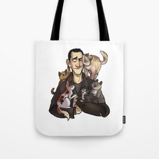 9 and cats Tote Bag
