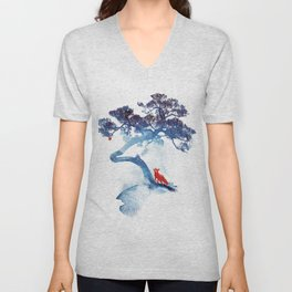 The last apple tree Unisex V-Neck