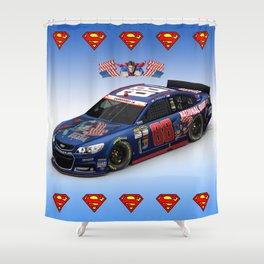 My @DaleJr #SuperMan design. #NASCAR Shower Curtain