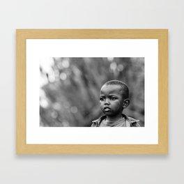 Child in Rwanda Framed Art Print