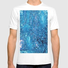Broken and blue MEDIUM Mens Fitted Tee White