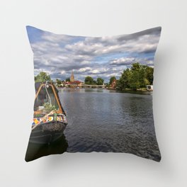 The River Thames At Marlow Throw Pillow