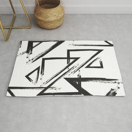 abstract geometry triangles Rug