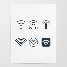 Wifi Signals Poster