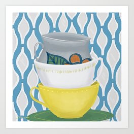 Cups in a stack Art Print