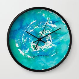 Watercolor Blue Abstract Wall Clock