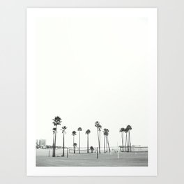 Bleached Beach Art Print