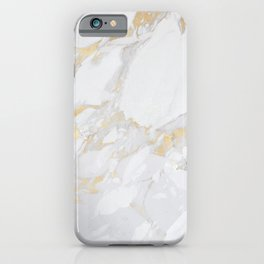Marble with Gold iPhone Case